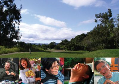 Image of the Hillside landscaping and pictures of residents