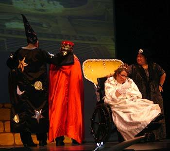Hillside residents performing in a play
